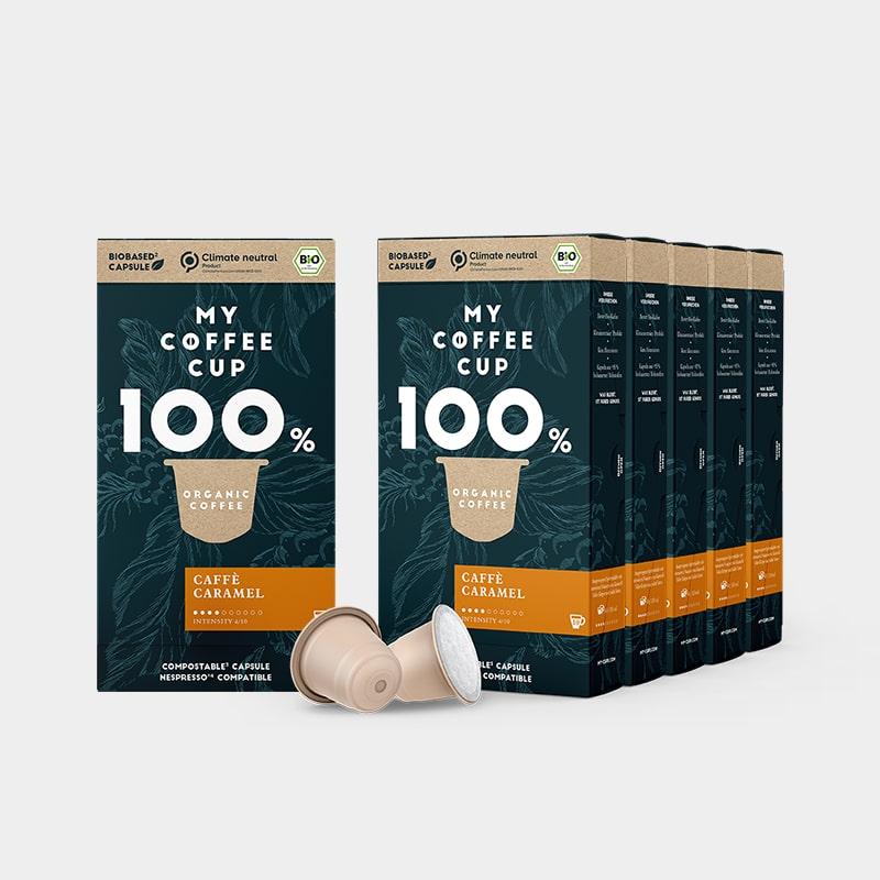 My-Cups | Kleine Vorteilsbox Caffè Caramel – 60 Bio